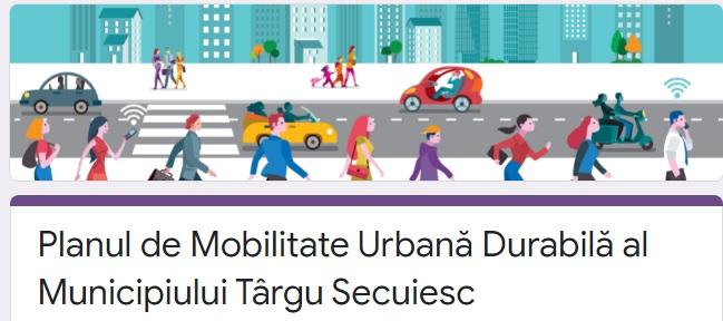 Kézdivásárhely Fenntartható Városi Mobilitási Terve – kérdőív kitöltése