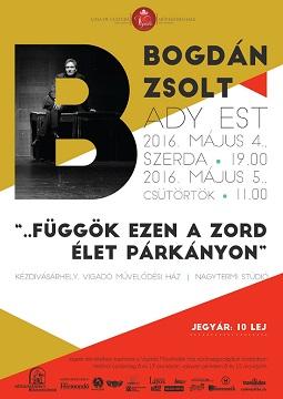 Bogdán Zsolt Ady-estje a Vigadó színpadán