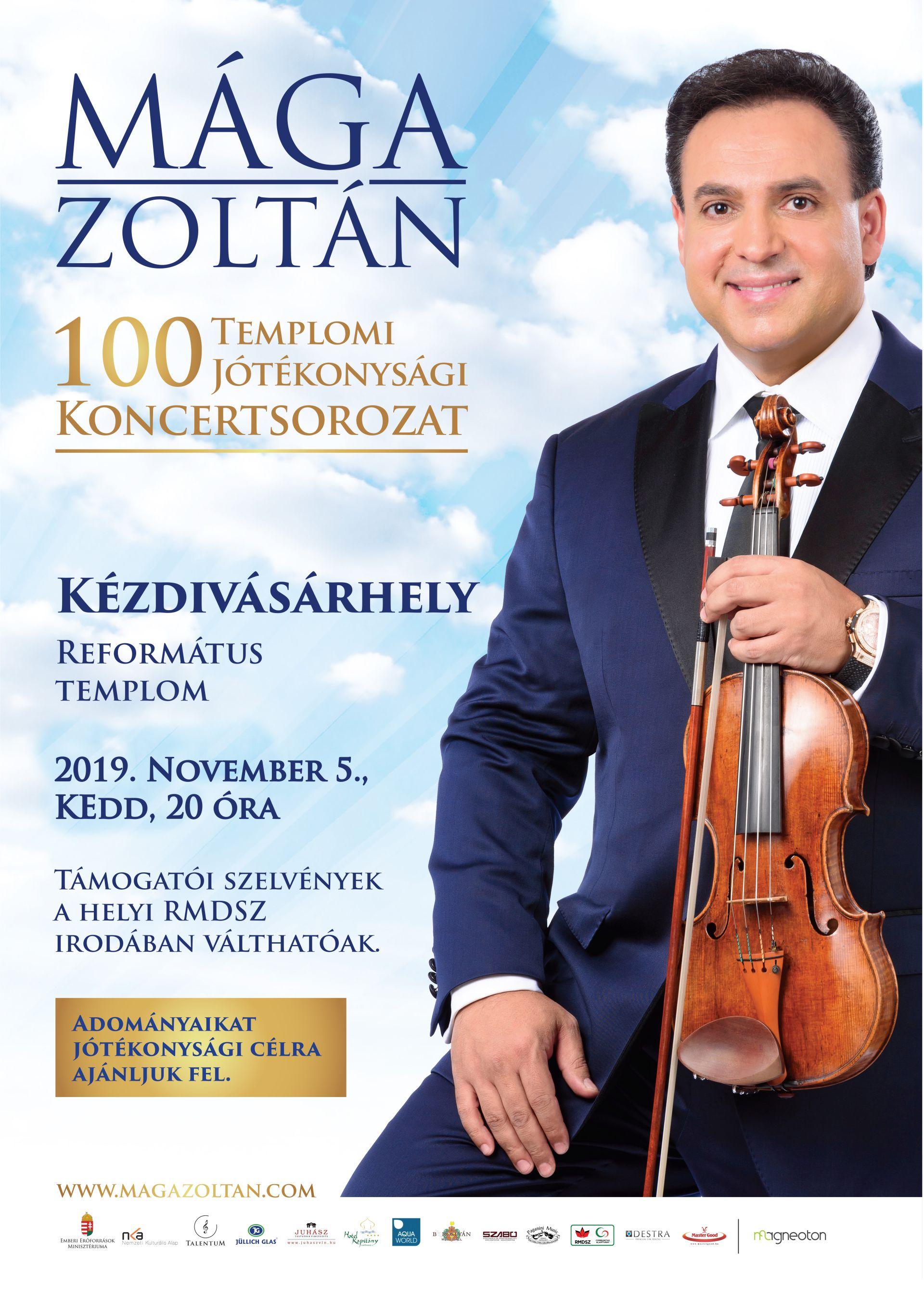Jótékonysági Mága Zoltán koncert Kézdivásárhelyen