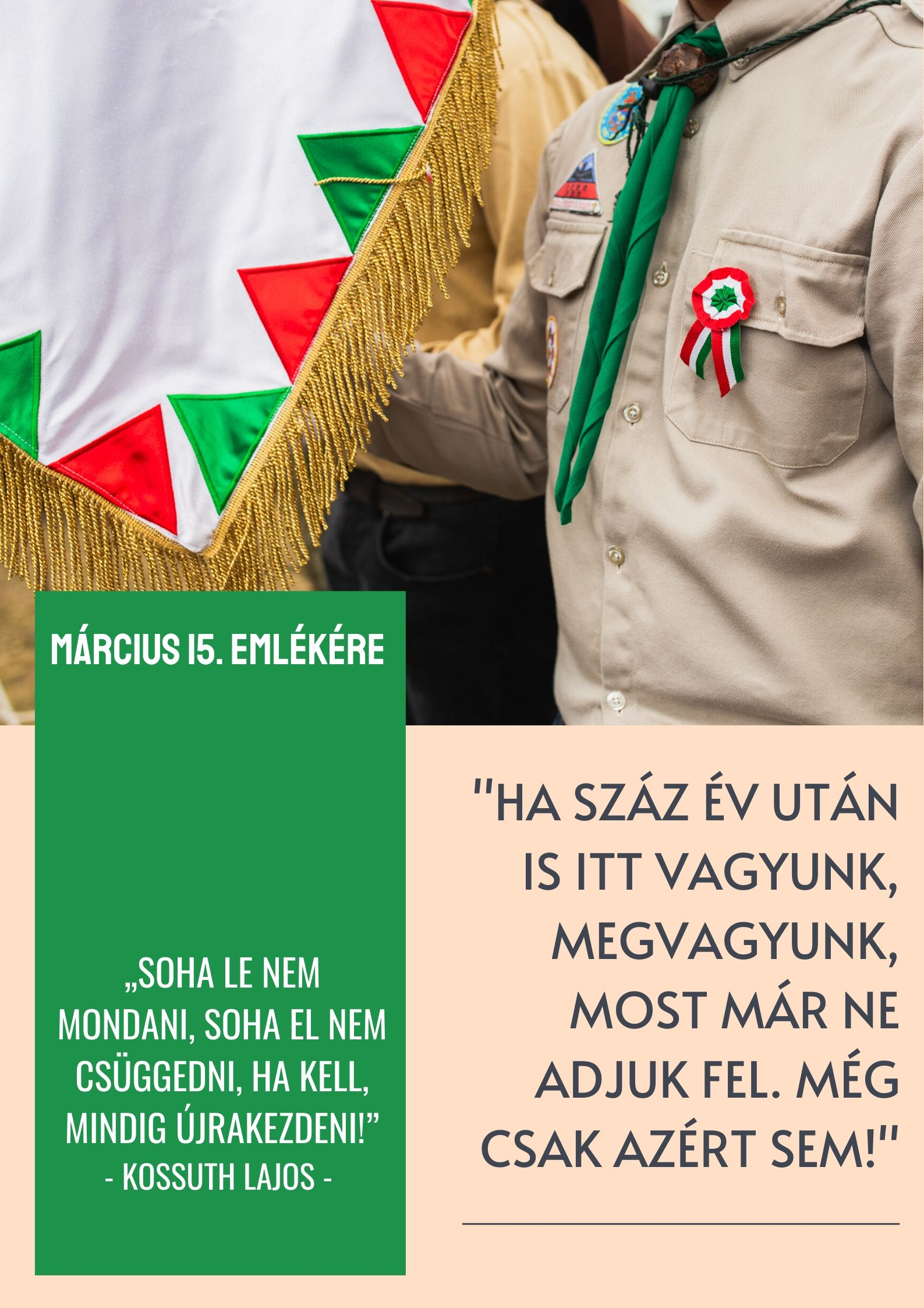 Bokor Tibor polgármester március 15-i üzenete