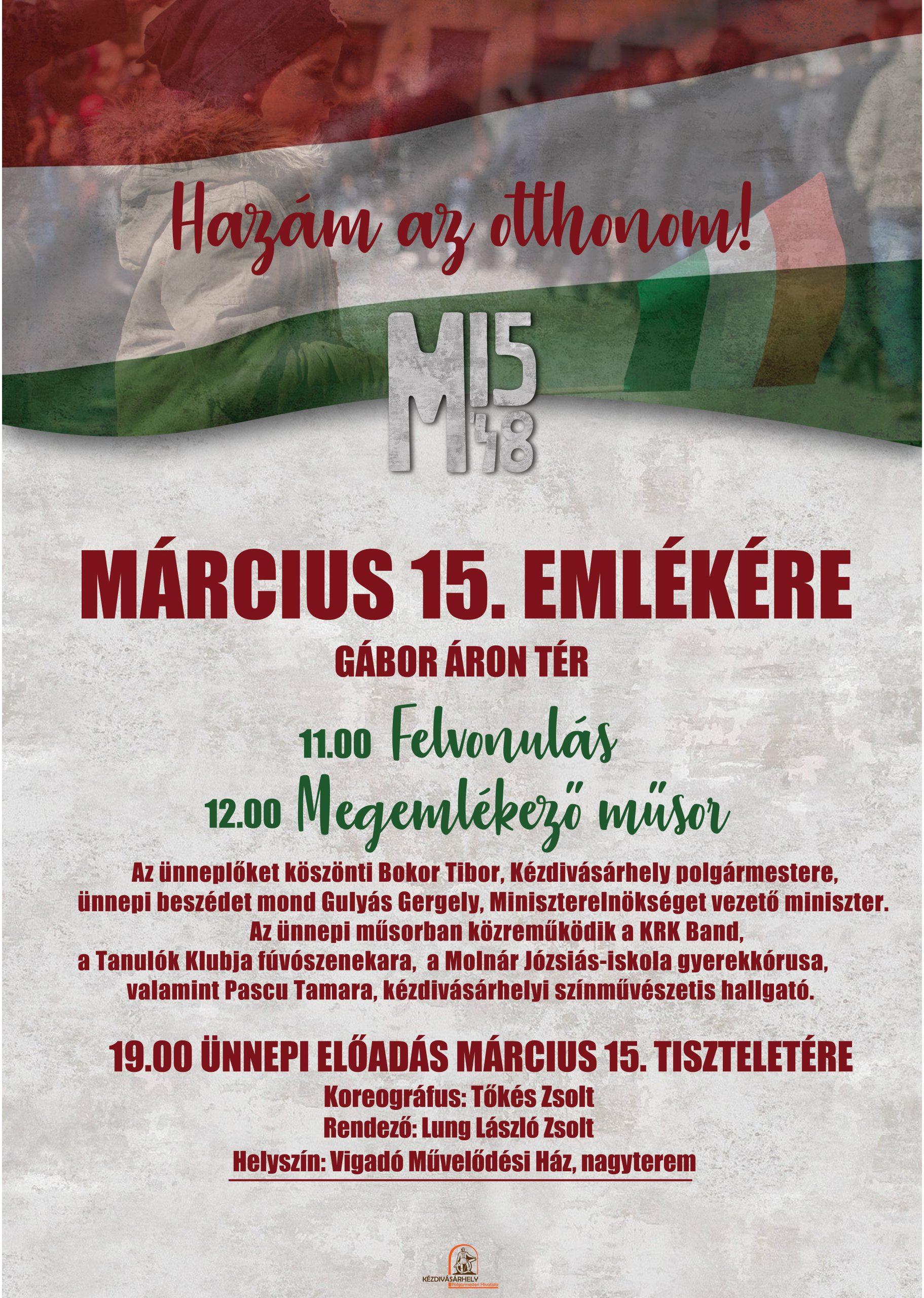 ELMARAD! Március 15. emlékére  – program