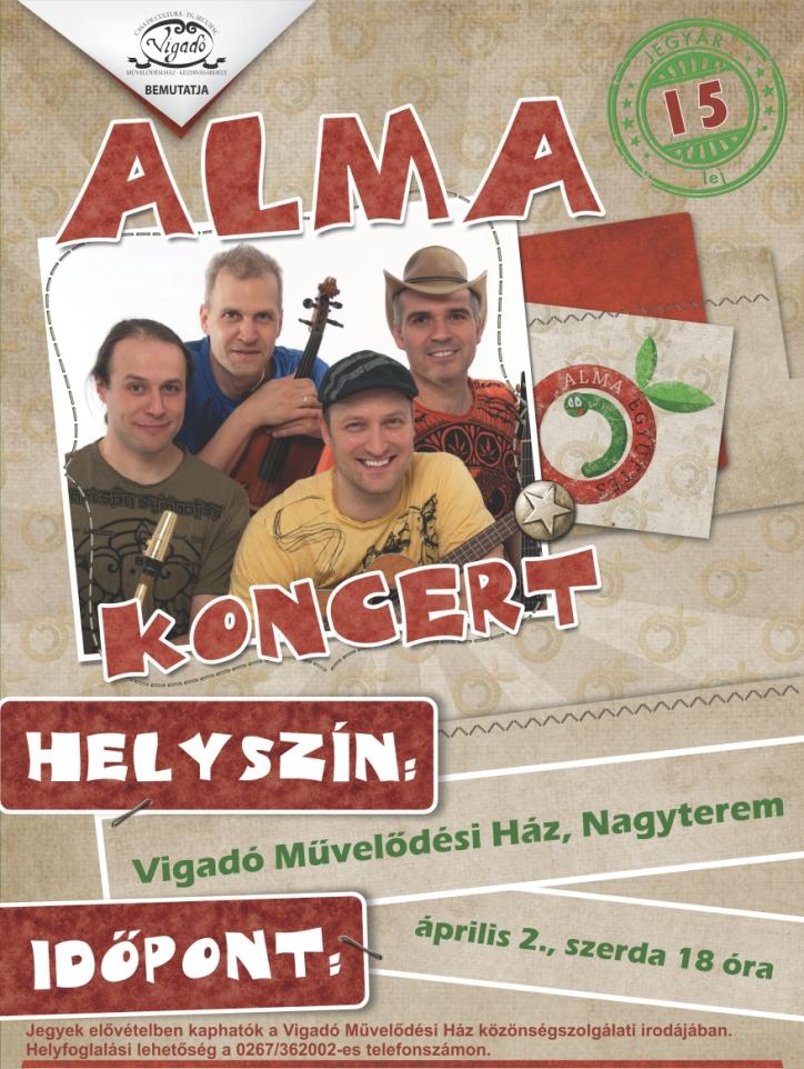 Az Alma Együttes koncertje