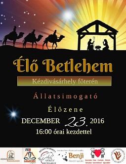 Élő Betlehem a Gábor Áron téren