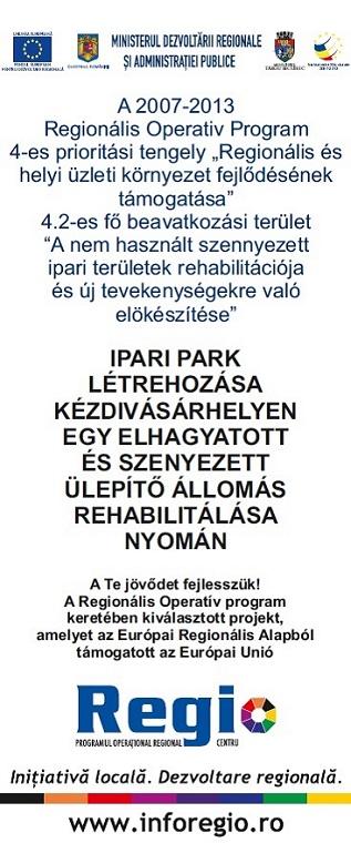 Ipari park létrehozása Kézdivásárhelyen