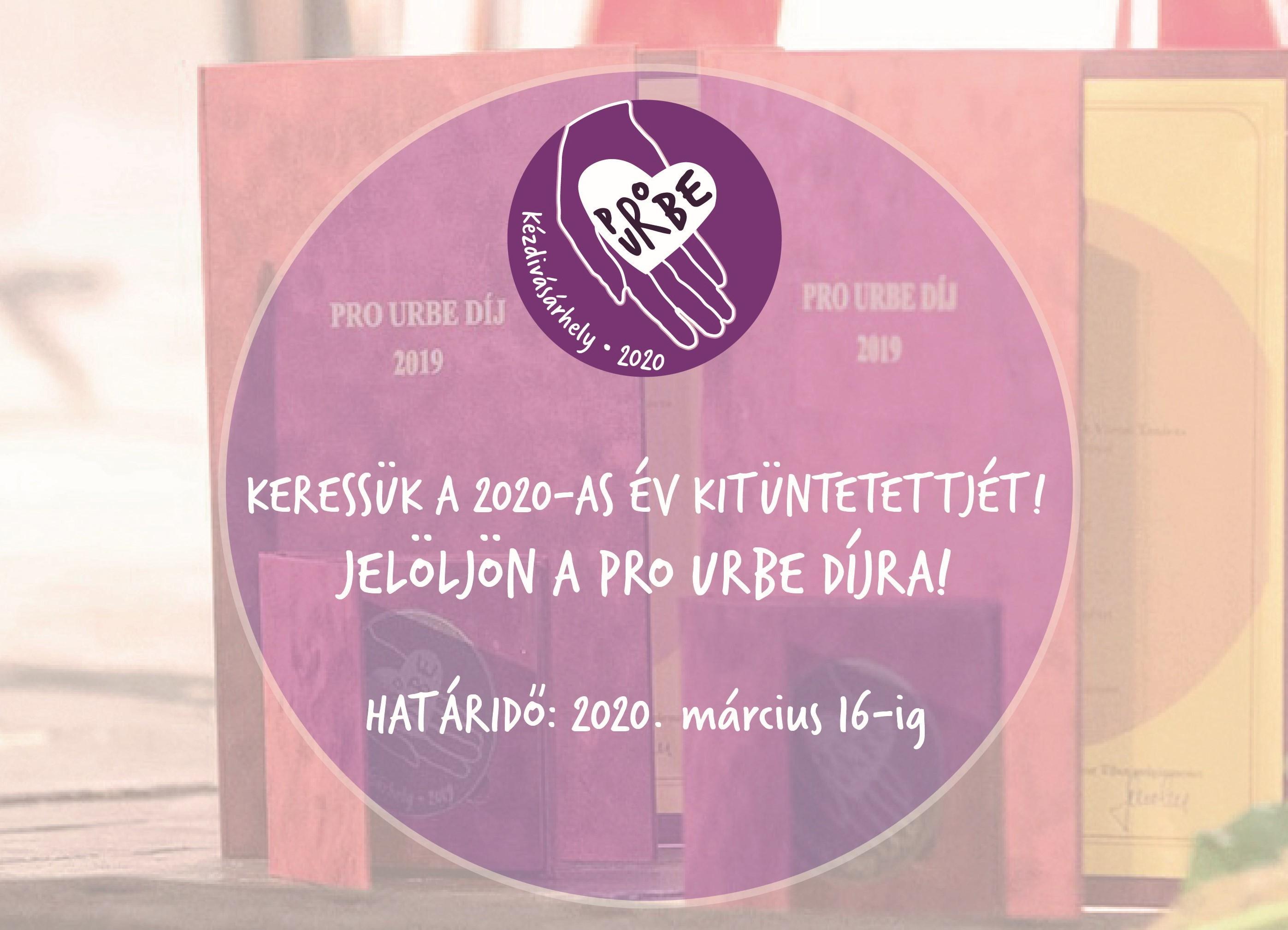 2020-ban is odaítélik a Pro Urbe díjat