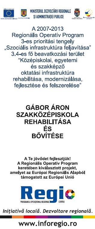 Gábor Áron Szakközépiskola Rehabilitálása és Bővítése