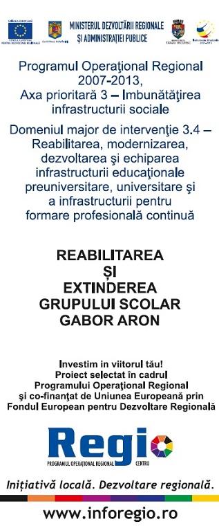 Reabilitarea și Extinderea Grupului Școlar Gábor Áron