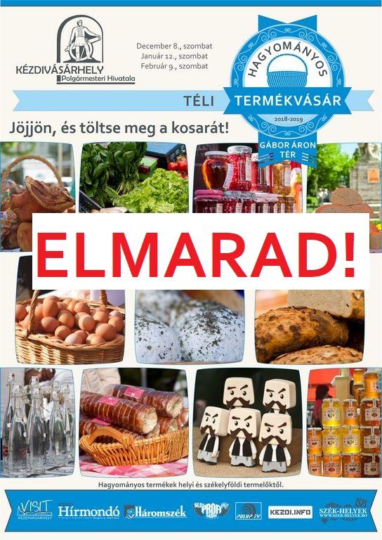 Elmarad a kézdivásárhelyi februári hagyományos termékvásár